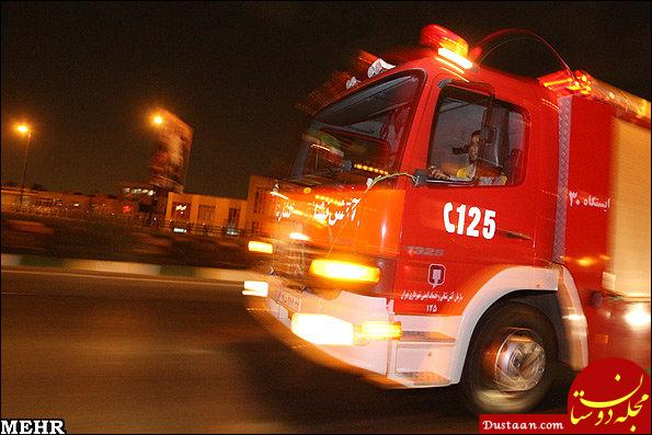 www.dustaan.com برخورد کامیون و اتوبوس در جاده هراز با ۷ زخمی