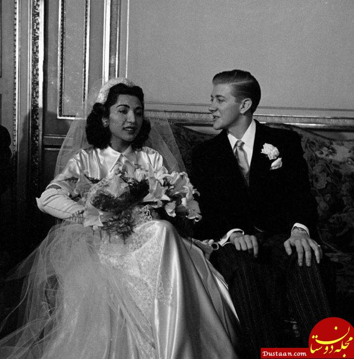 ازدواج جنجالی دختر رضاخان با یک آمریکایی! +عکس