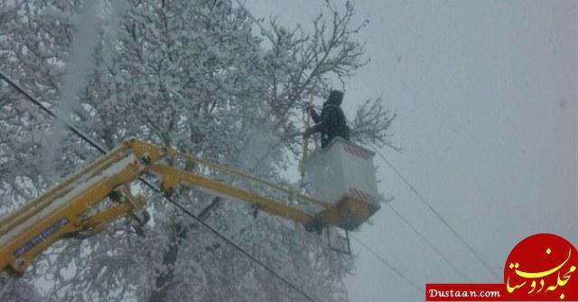 www.dustaan.com قطع برق 210 هزار مشترک در البرز در پی بارش برف