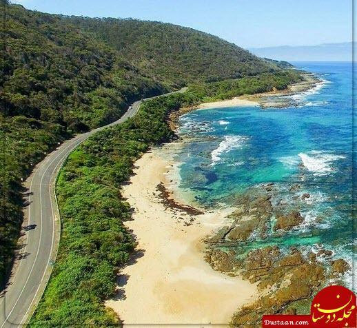 www.dustaan.com عکسی فوق العاده زیبا از معروف ترین جاده ساحلی دنیا