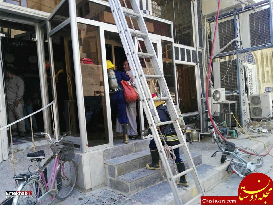 www.dustaan.com آتش سوزی در هتل زائران ایرانی در نجف اشرف +تصاویر