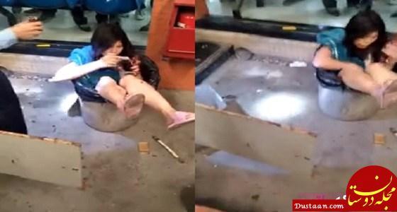 www.dustaan.com مرد چینی در اقدامی عجیب همسرش را درون سطل زباله انداخت! +تصاویر