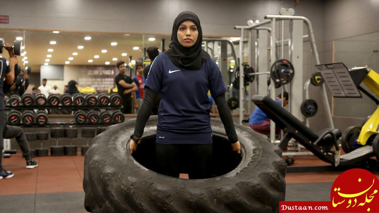 www.dustaan.com دختر محجبه هندی قهرمان پرورش اندام می شود! +تصاویر
