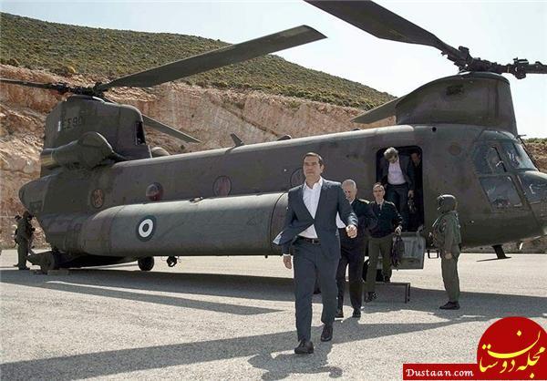 www.dustaan.com مزاحمت جنگنده های ترکیه برای بالگرد نخست وزیر یونان +عکس