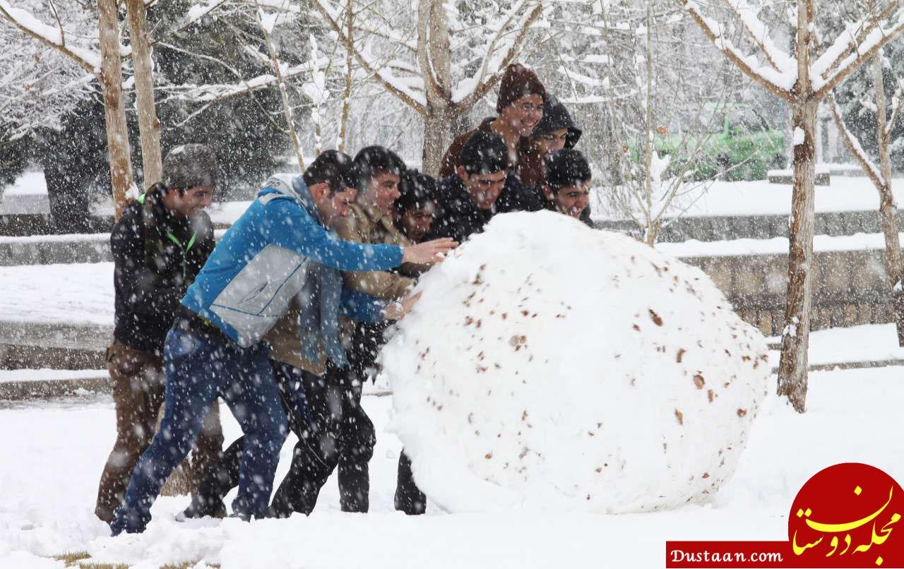 www.dustaan.com احتمال بارش برف در برخی استانهای کشور