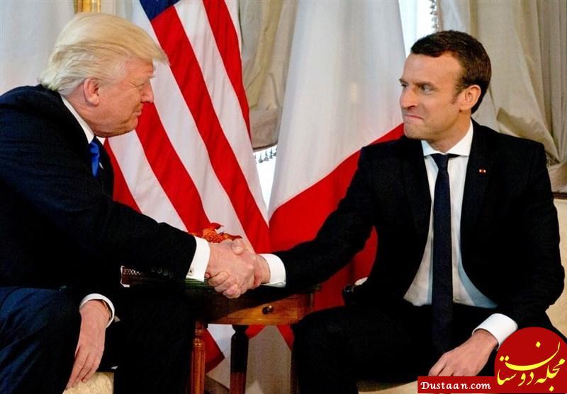 www.dustaan.com هدایای عجیب رهبران آمریکا و فرانسه به یکدیگر