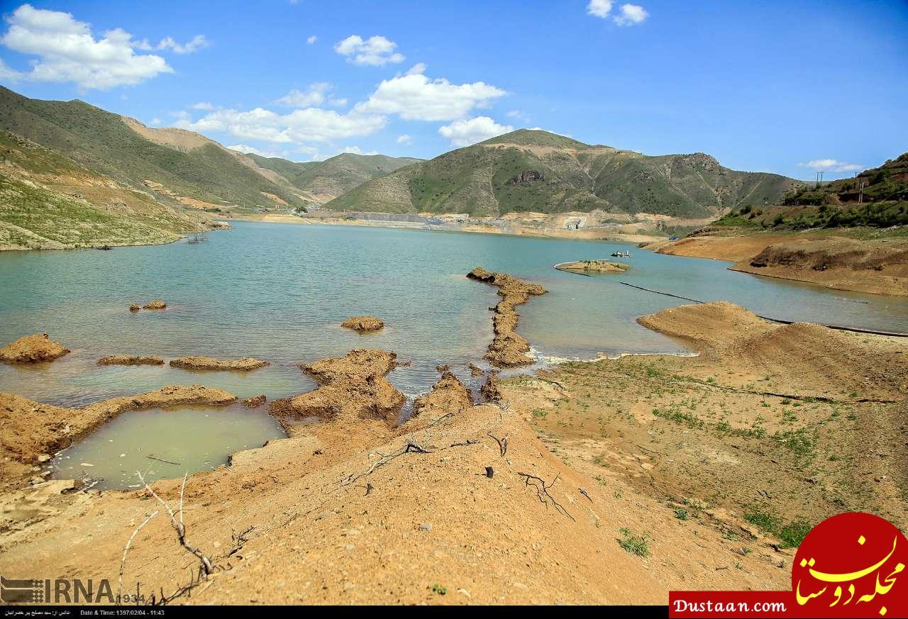 www.dustaan.com کاهش آب سد آزاد «بنیر» در کردستان