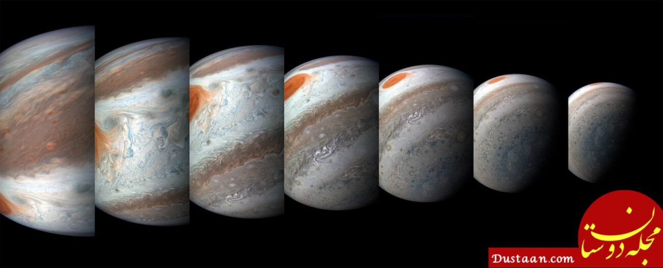 www.dustaan.com مهیج ترین تصاویر جدید ناسا از لکه سرخ مشتری