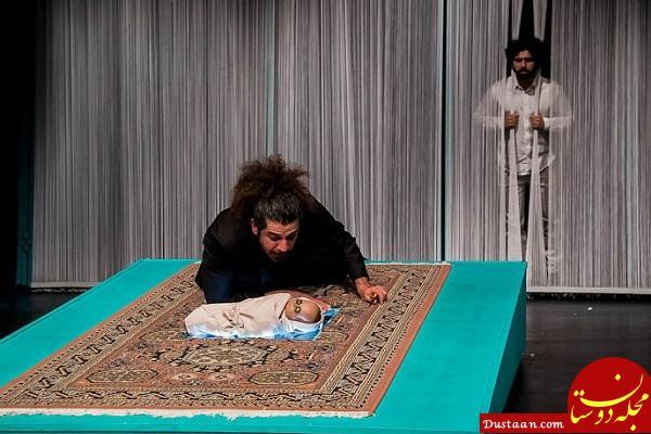 www.dustaan.com بهتاش فریبا روی صحنه تئاتر +تصاویر
