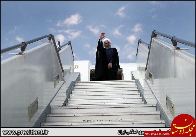 www.dustaan.com بدرقه متفاوت روحانی در تبریز +تصاویر
