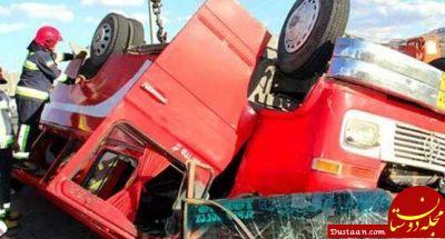 www.dustaan.com واژگونی مینی بوس در محور فسا   داراب 14 کشته و زخمی برجا گذاشت