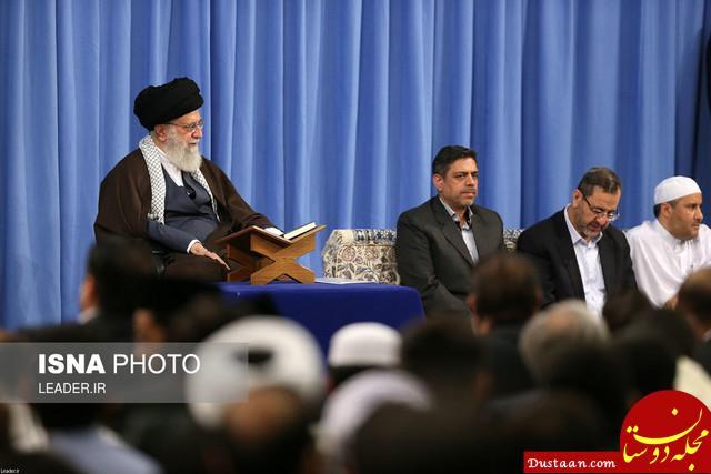www.dustaan.com رهبر انقلاب : ایران با عمل به قرآن مقابل امریکا ایستاده و پیشرفت کرده است