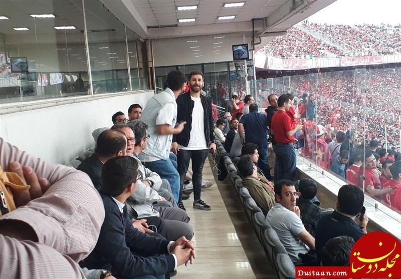 www.dustaan.com حضور بدل مسی در ورزشگاه آزادی +تصاویر