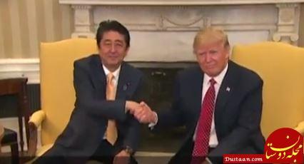 خوش آمدگویی و دست دادن به سبک رئیس جمهور آمریکا +تصاویر