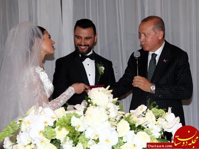 اردوغان در مراسم عروسی علیشان و بوسه وارول! +عکس