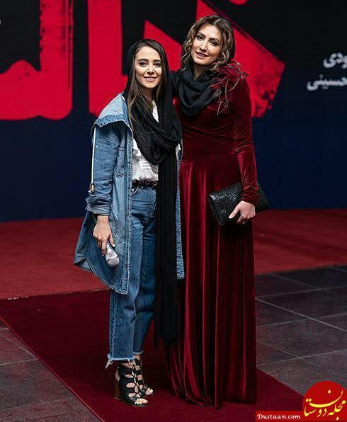www.dustaan.com تیپ دیدنی سارا و نیکا در مراسم اکران خصوصی یک فیلم +تصاویر