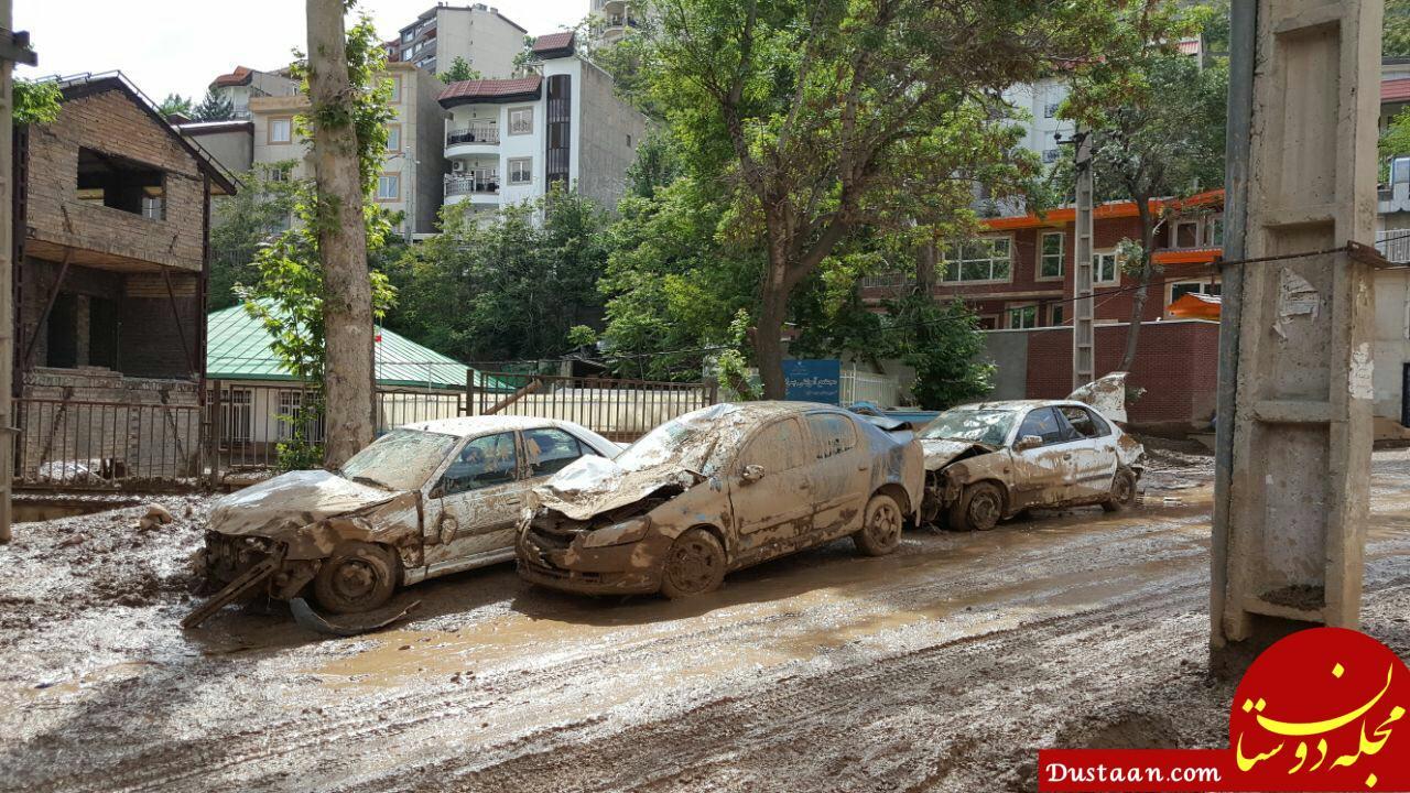 www.dustaan.com خسارات ناشی از سیل در شهرستان شمیرانات +عکس