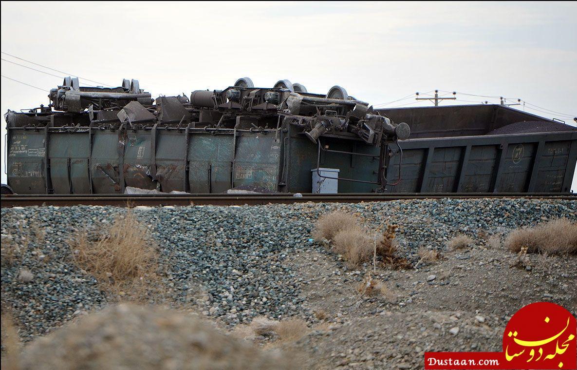 www.dustaan.com قطار باری ایران به ترکیه واژگون شد +عکس