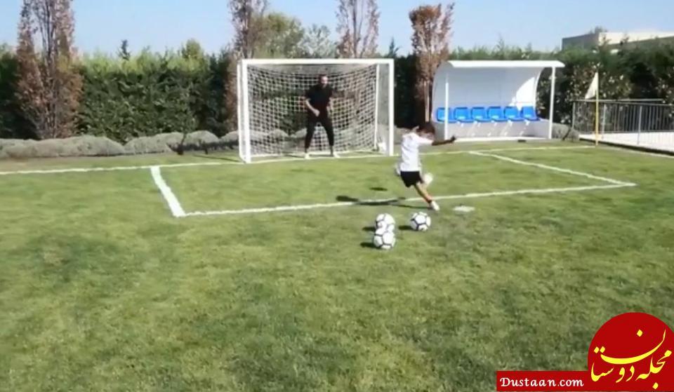 www.dustaan.com ستاره هایی که به فرزندان شان فوتبال آموزش می دهند +تصاویر