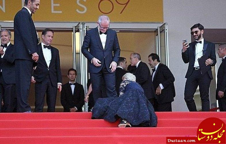 وقتی زمین خوردن های خانم بازیگر سوژه می شود! +تصاویر