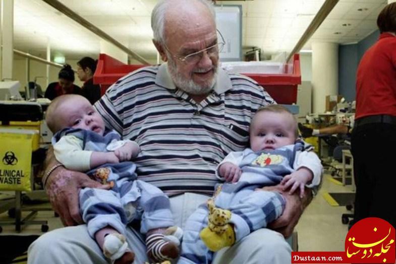 www.dustaan.com دو میلیون نوزاد مدیون این مرد استرالیایی هستند!  +تصاویر