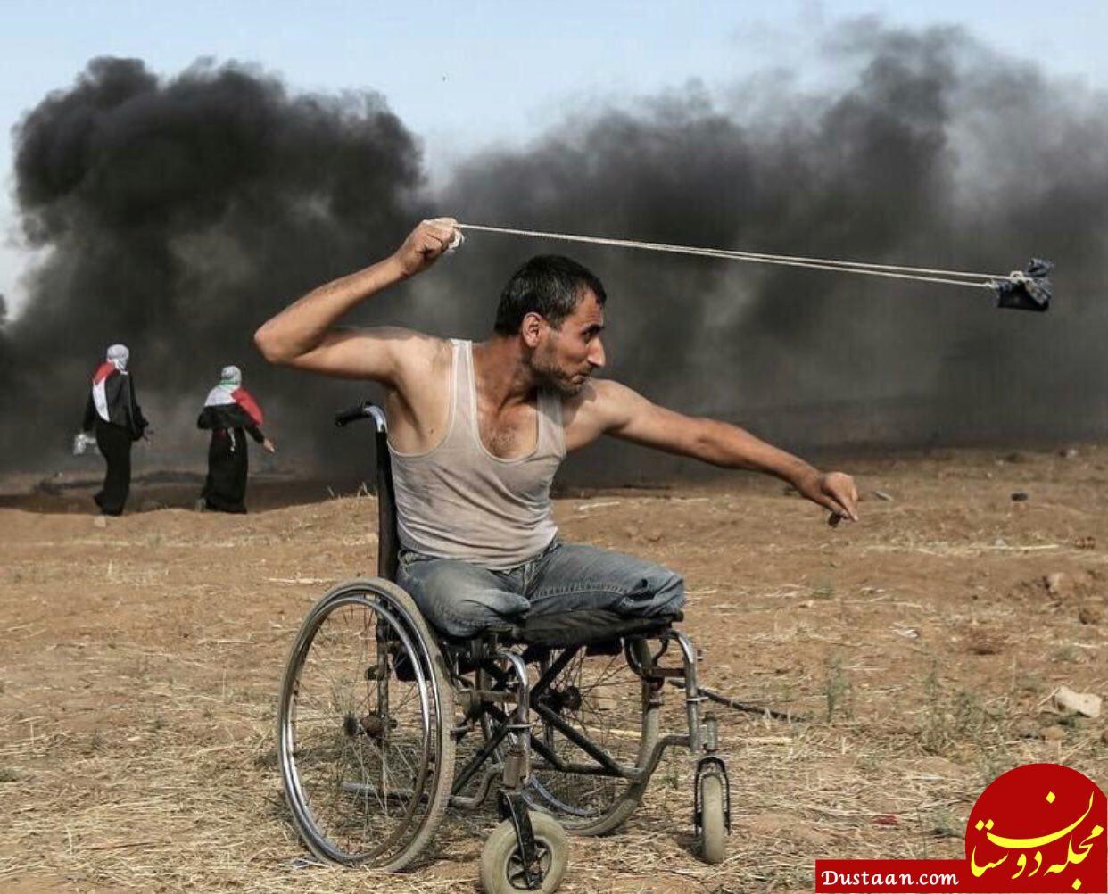 www.dustaan.com جوان 29 ساله فلسطینی که تصویرش دنیا را تکان داد