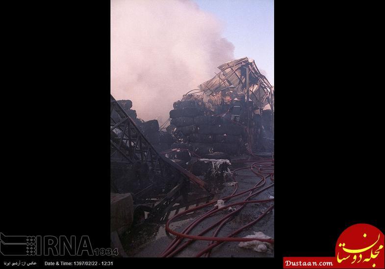 www.dustaan.com خسارات سنگین آتش سوزی در میدان شوش +تصاویر