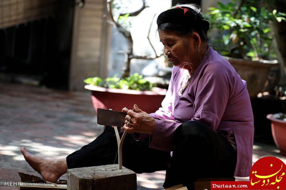 www.dustaan.com ساخت بادبزن های کاغذی در ویتنام +تصاویر