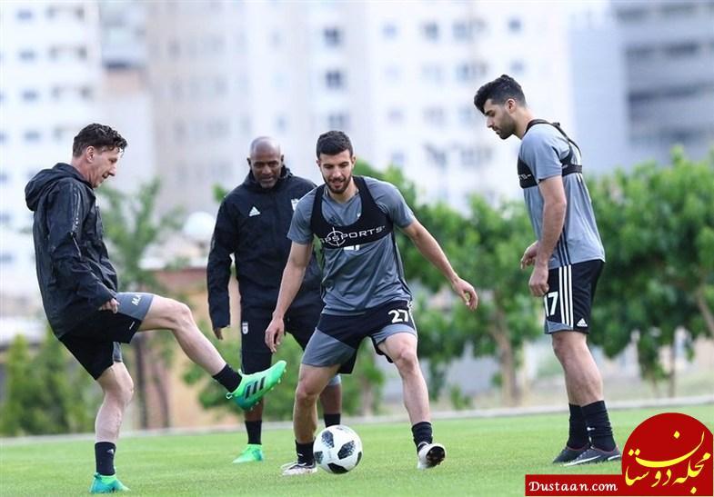 www.dustaan.com تمرین تیم ملی فوتبال / پرچم آمریکا سوژه خبرنگار سی ان ان! +تصاویر