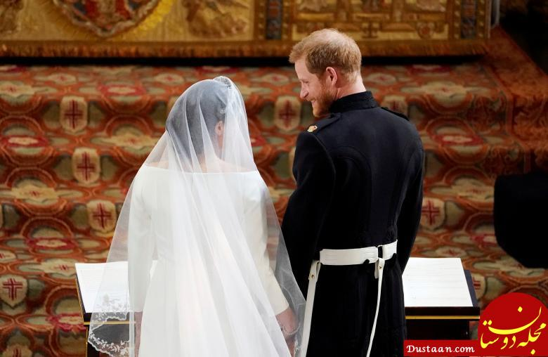 www.dustaan.com عکس های جذاب از مراسم ازدواج پرنس هری و مگان مارکل +حواشی
