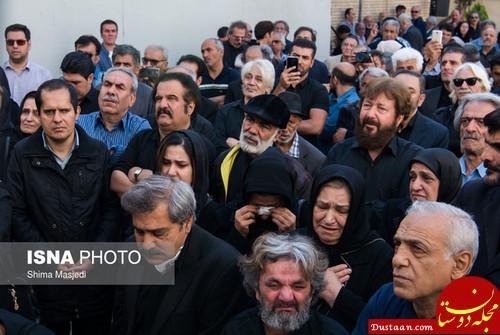 www.dustaan.com مراسم تشییع پیکر حسین شهاب بازیگر پیشکسوت +تصاویر