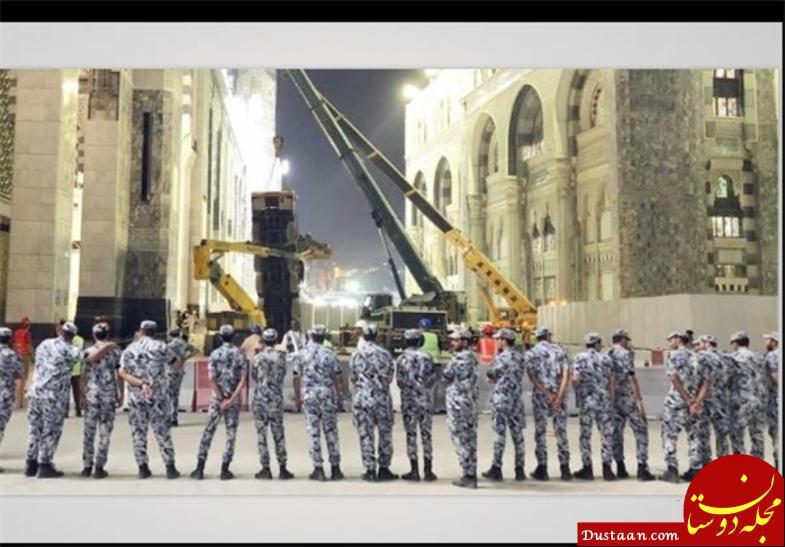 www.dustaan.com سقوط یک جرثقیل دیگر در مسجدالحرام +عکس