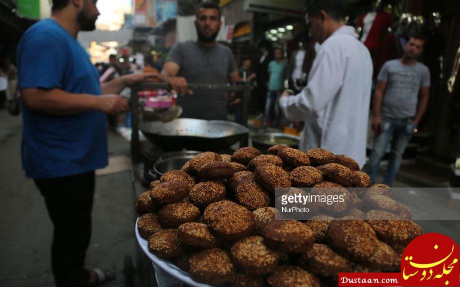 www.dustaan.com حال و هوای بازار غزه در ماه رمضان +تصاویر