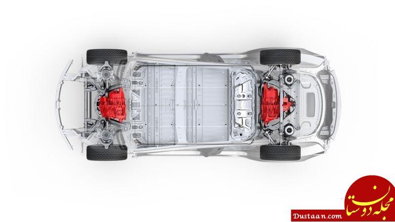 www.dustaan.com خودروی جدید تسلا دوآل موتور با صفر تا صد ۳.۵ ثانیه ای است