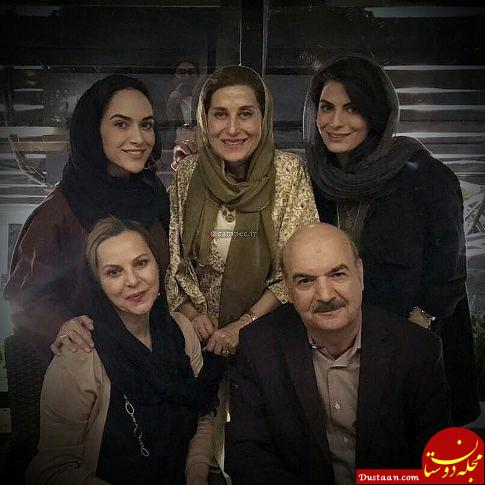 www.dustaan.com جشن تولد آقای مجری درکنار همسر و دخترانش! +عکس