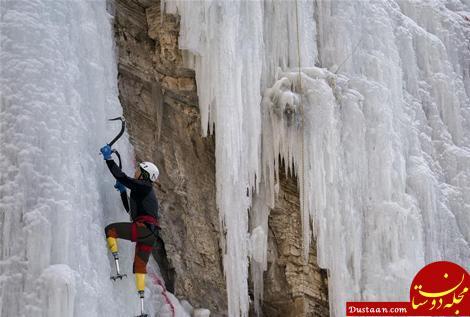 www.dustaan.com مرد ۶۹ ساله ای که بدون پا قله اورست را فتح کرد! +تصاویر