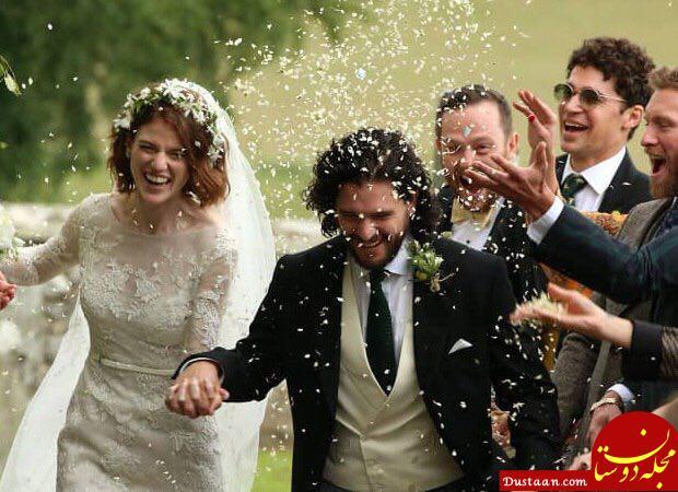 www.dustaan.com جزئیات ازدواج جان کیت هرینگنون و رز لزنی بازیگران سریال تاج و تخت +عکس