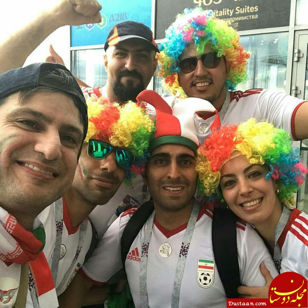 www.dustaan.com عکس های دیدنی از بازیگرانی که برای تماشای جام جهانی روسیه رفتند
