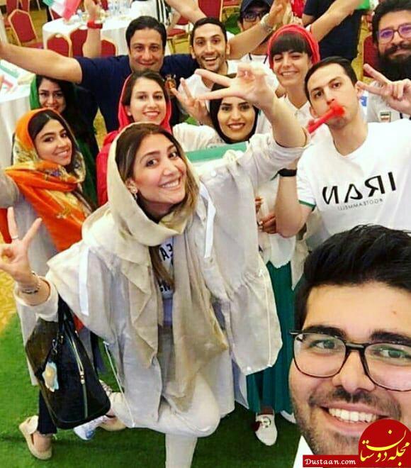 www.dustaan.com بازیگرانی که بازی ایران   مراکش را در کنار هم تماشا کردند! +تصاویر