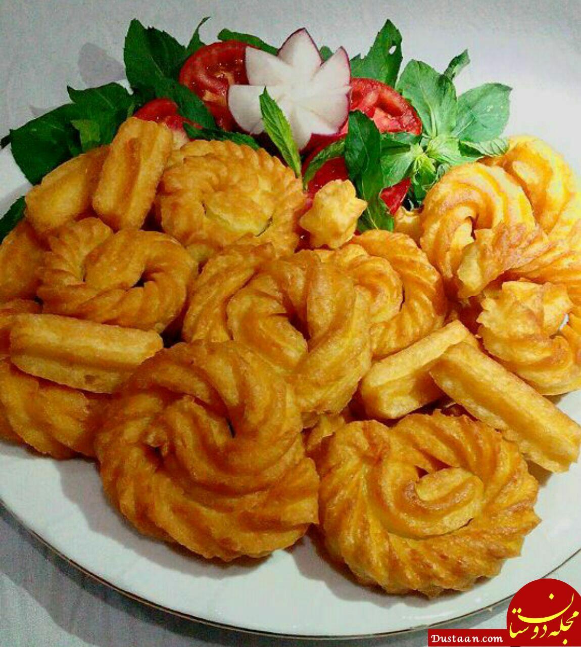 www.dustaan.com طرز تهیه بامیه سیب زمینی به روشی متفاوت و خوشمزه