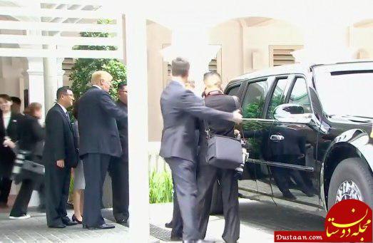 www.dustaan.com لحظه ای که ترامپ و اون از جلسه ناهار خارج شدند +عکس