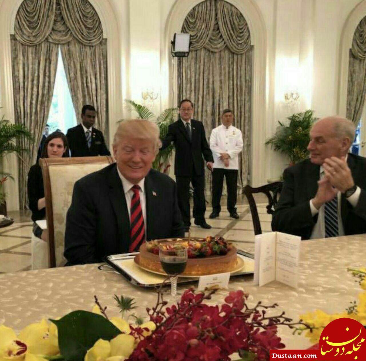 www.dustaan.com جشن تولد زود هنگام برای ترامپ در سنگاپور! +عکس