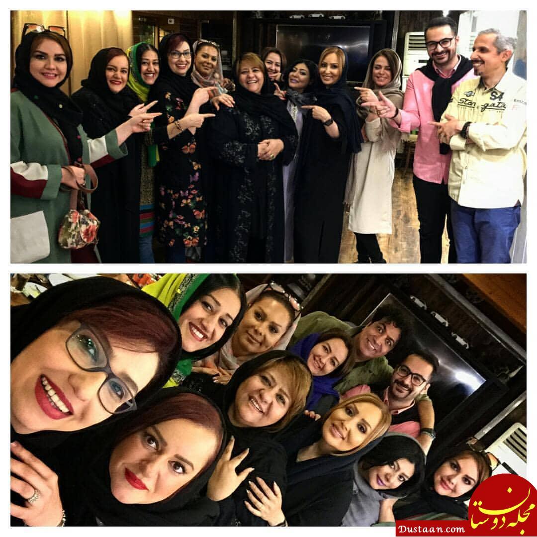 www.dustaan.com جشن تولد رابعه اسکویی با حضور بازیگران سرشناس سینما +تصاویر