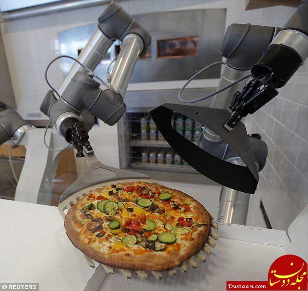 www.dustaan.com رباتی که در کمتر از ۵ دقیقه پیتزا می پزد! +عکس