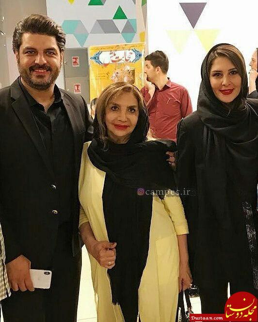 www.dustaan.com آقای بازیگر در کنار همسر و مادرش! +عکس