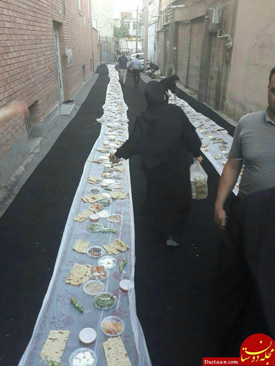 www.dustaan.com سفره افطاری یک نماینده +عکس