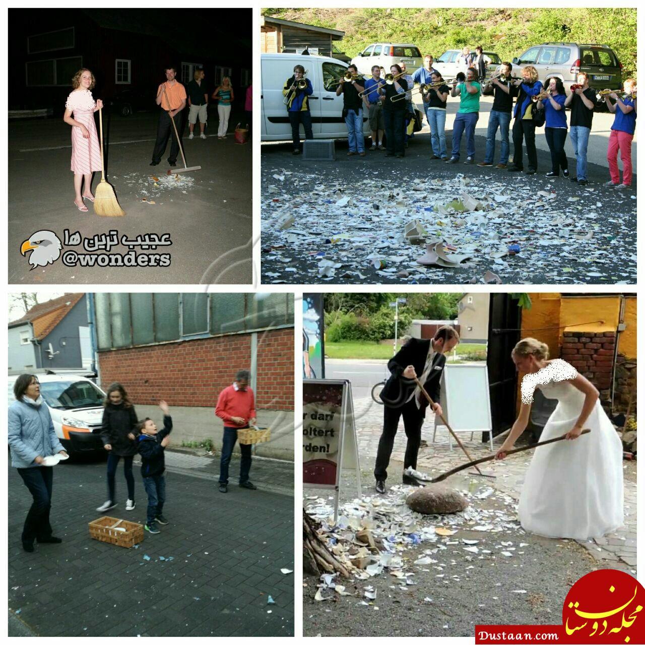 www.dustaan.com رسم عجیب در آلمان برای تازه عروس ها! +عکس