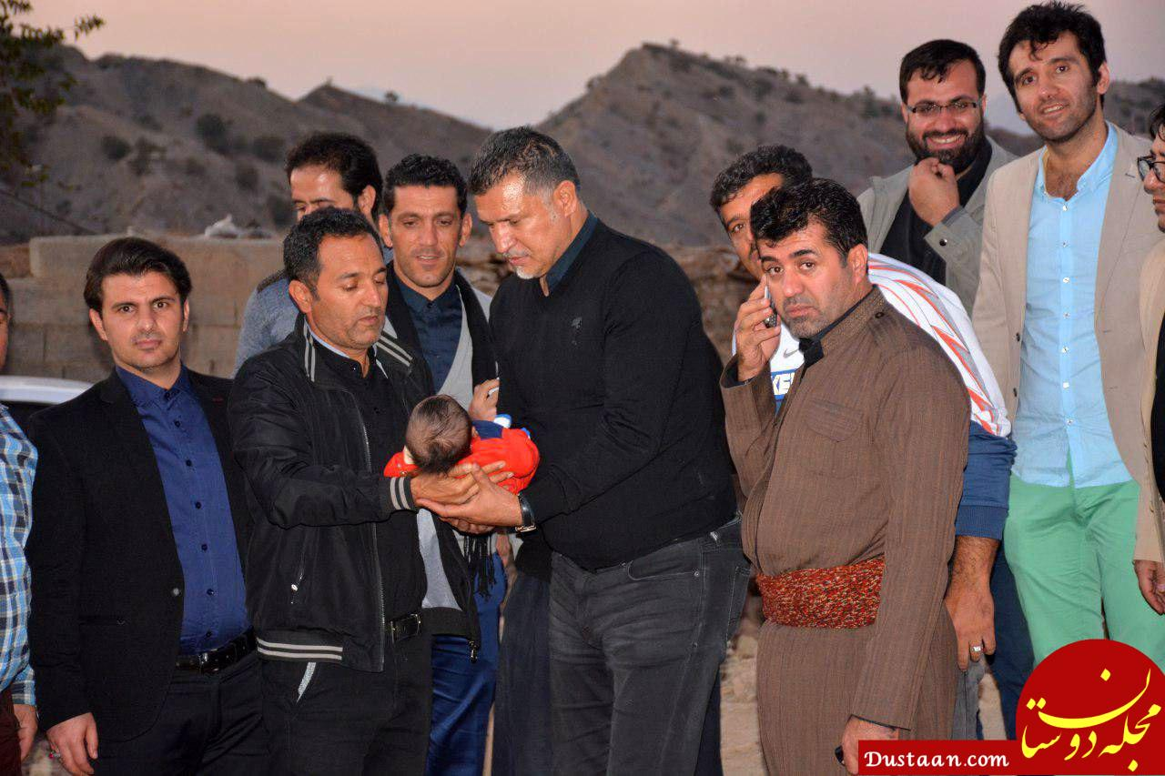 www.dustaan.com علی دایی یک روستای زلزله زده 80 خانواری را بطور کامل میسازد +عکس