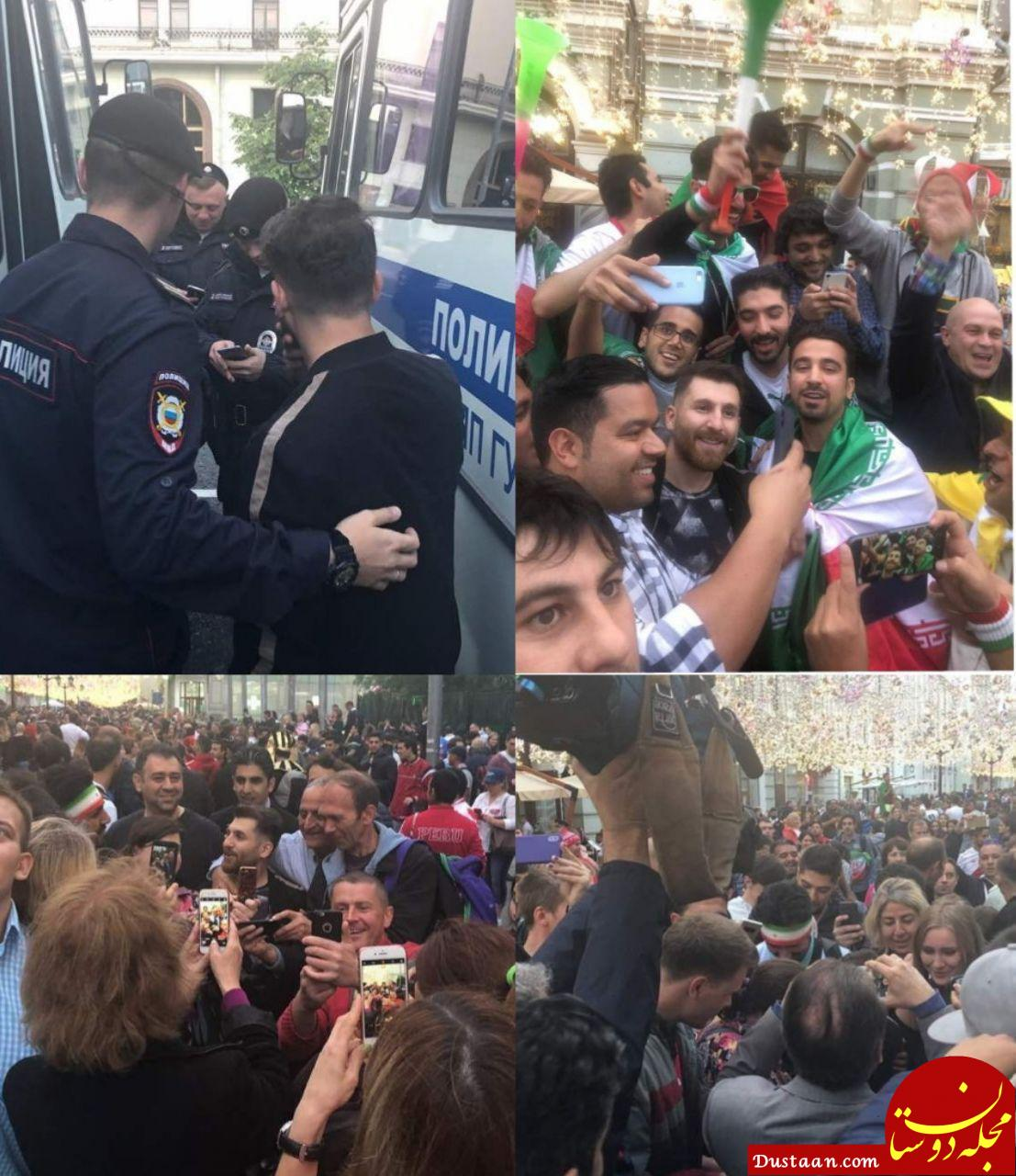 www.dustaan.com هجوم روس ها برای گرفتن سلفی با مسی ایرانی! +تصاویر