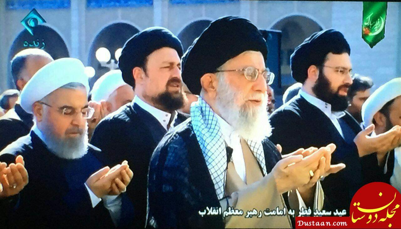 www.dustaan.com نماز عید سعید فطر به امامت رهبر انقلاب اسلامی اقامه شد